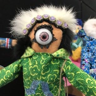 Kushtaka Doll 2018 Mixed media 14.5 x 7 x 4 inches