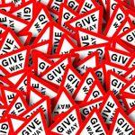 give way sign, give way, sign