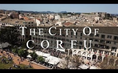 Excellent aerial video for Corfu Old Town