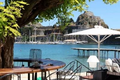 corfu town beaches faliraki
