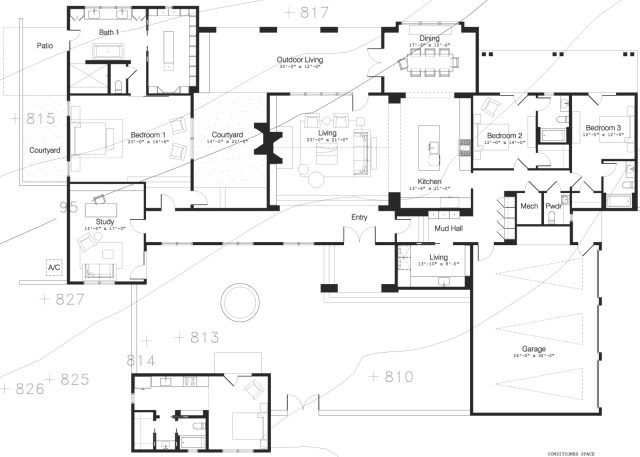 8901 Calera Drive - Plan