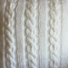 norwegian cable pillow swatch