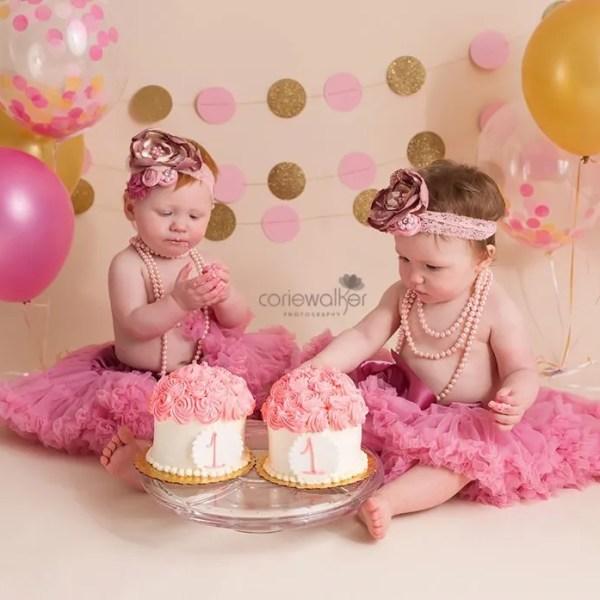twins cake smash first birthday