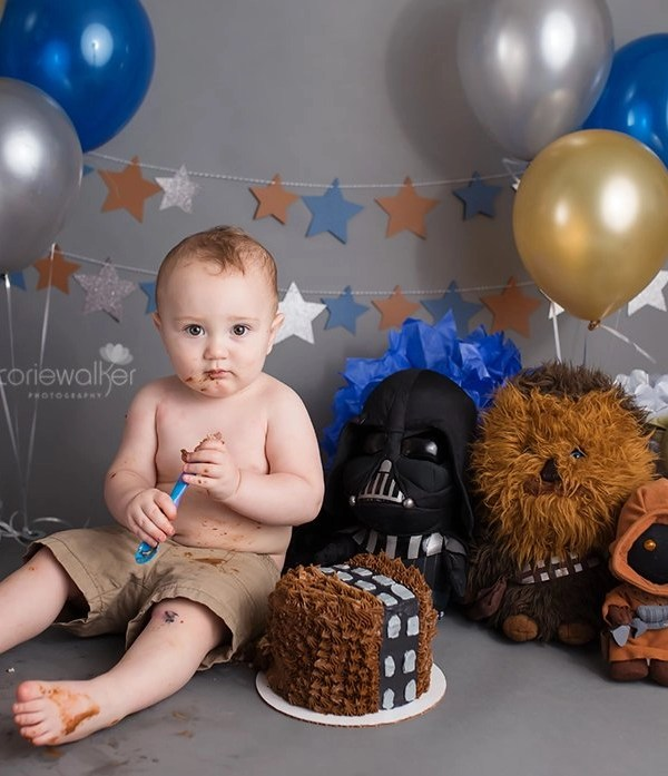 Star Wars First Birthday Cake Smash | Happy Birthday Jay