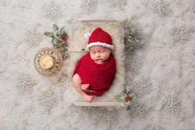 santa baby newborn photo