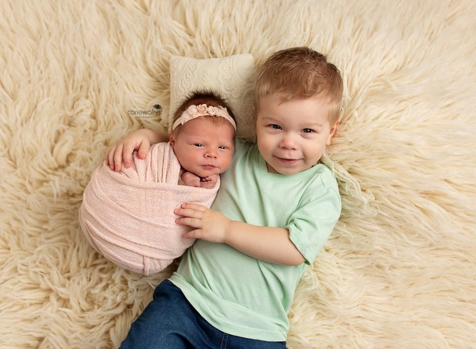 big brother with new baby sister