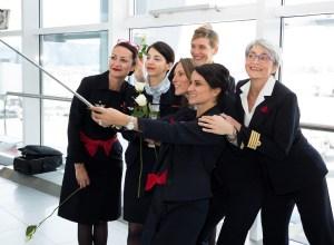 De 8 martie, zborul Paris – București a avut un echipaj 100% feminin
