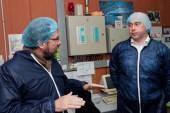 Monsieur le Maire Christophe ROBIN et Frédéric LEFEBVRE chez JEAN LUC Pécheux. - Producteur de porc