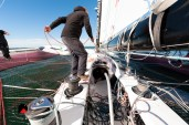Photographe reportage nautique, skipper route du rhum 2018, Portrait de David Ducosson Skipper