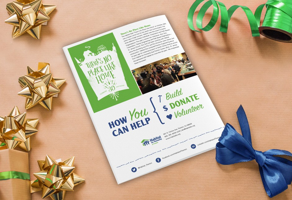 Habitat for Humanity, Non-profit holiday newsletter, holiday newsletter, Christmas newsletter, Good News