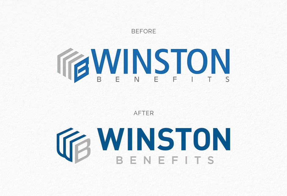 simple design solutions, logo redesign, logo, Winston Benefits, Insurance, Benefits, branding, custom icons