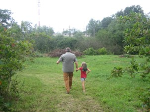Dziadek and granddaughter