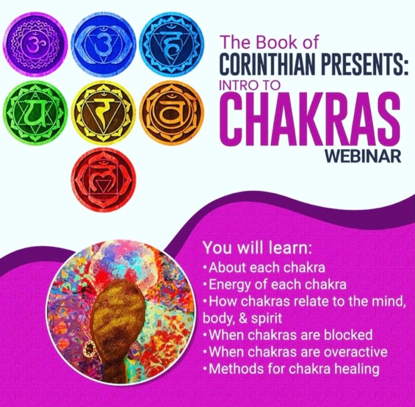 Intro to Chakras Live Webinar October 8, 2020
