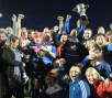 Knocknaheeney celebrate their victory over Park United A in the Mossie Linnane League Cup final