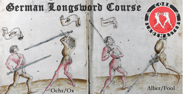 German Longsword Course Cork 1/10 – Mon 28/09/2020