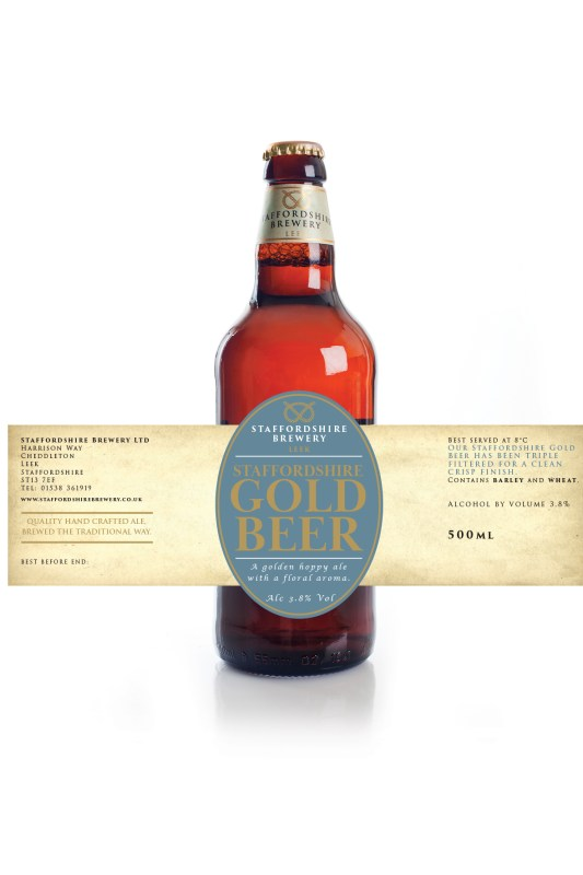 SB gold label over