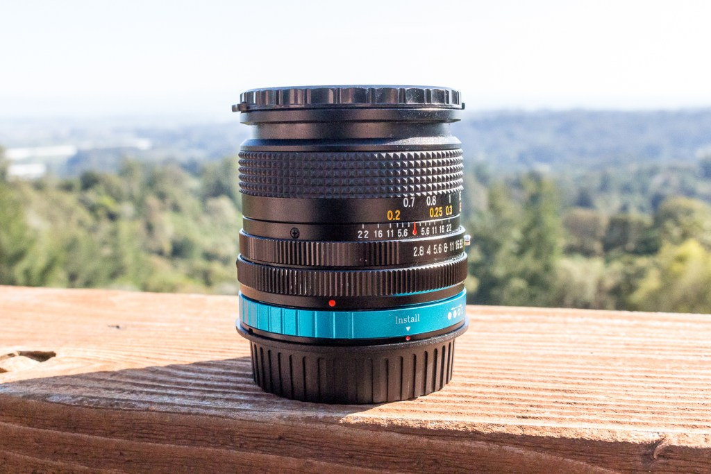The Spiratone 20mm F2.8 Lens with the Fotodiox FD-EOS (EF, EF-S) Adapter.