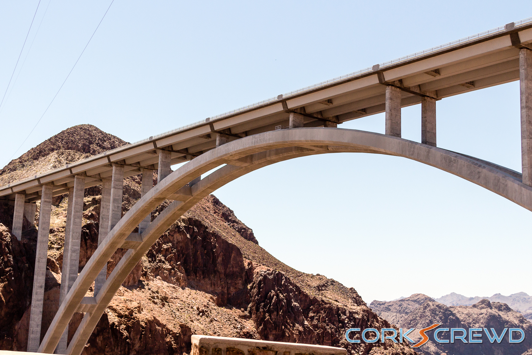 The bridge over The Hoover Dam.