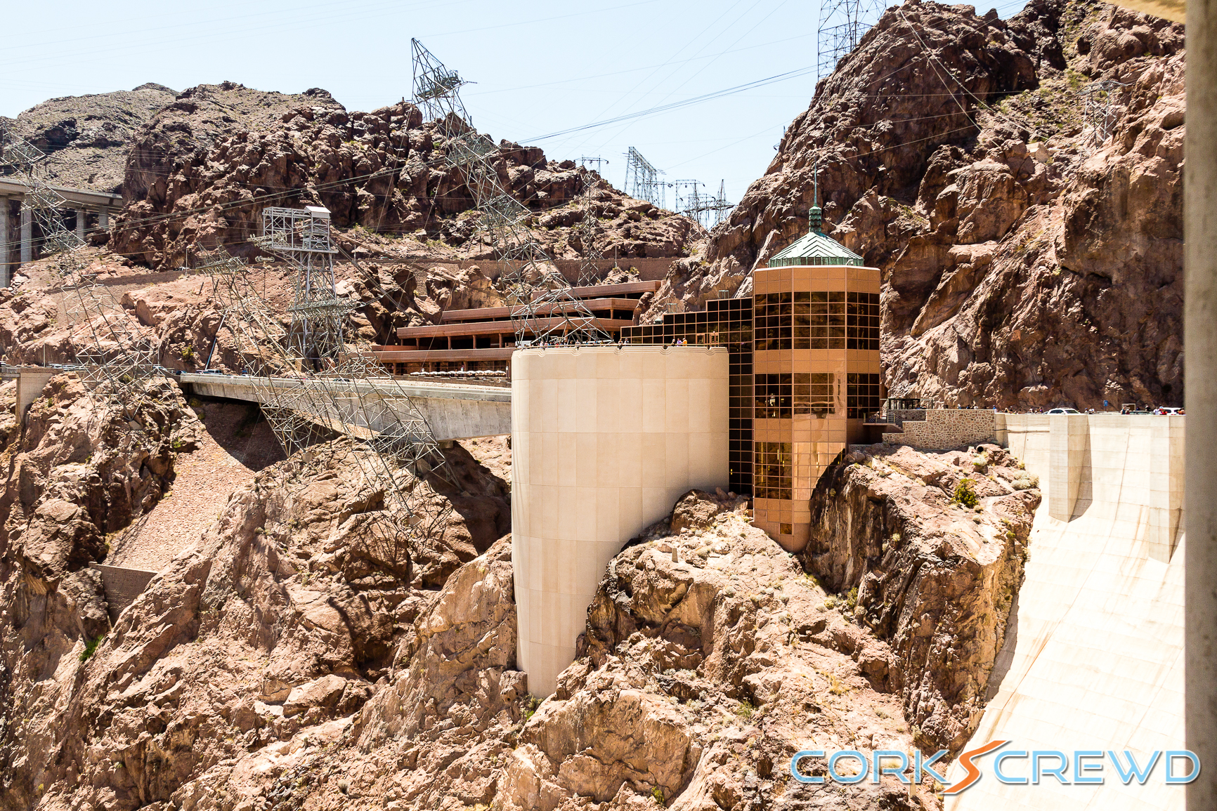 Another view of the visitor's center from the Hoover Dam.