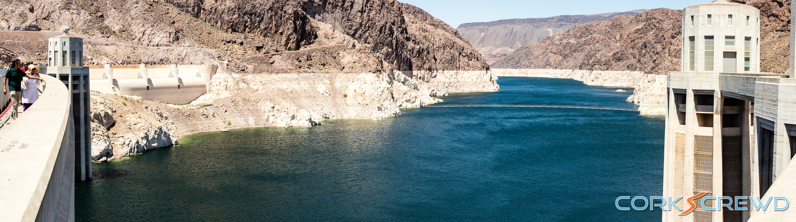 A view of the reservoir from the Hoover Dam.