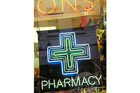Pharmacy Neon Cross Sign