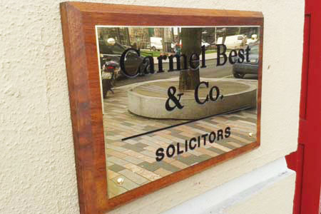 Best and Co. Solicitors Wall Plaque