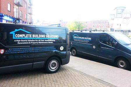 Complete Building Solutions Vans