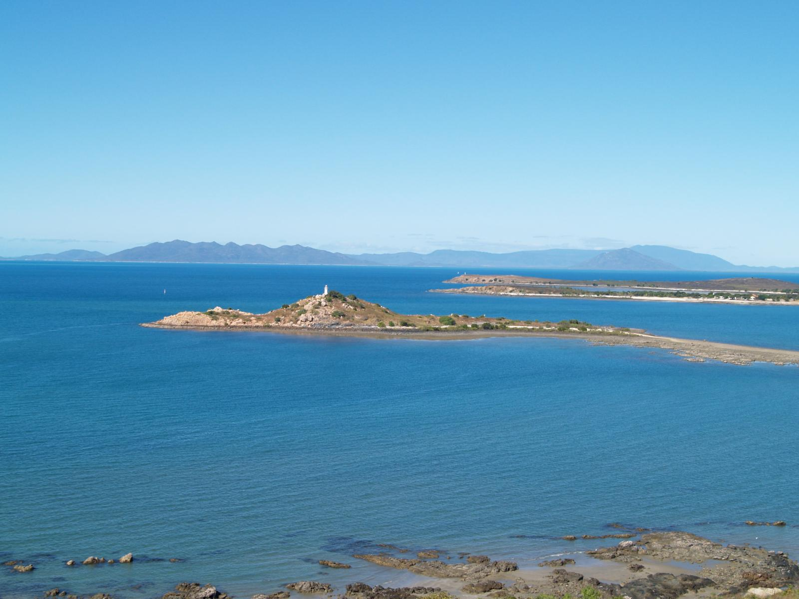 View across Bowen Heads to Whitsunday Island