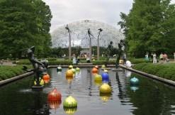 Floating Chihuly Balls, Missouri Botannical Garden