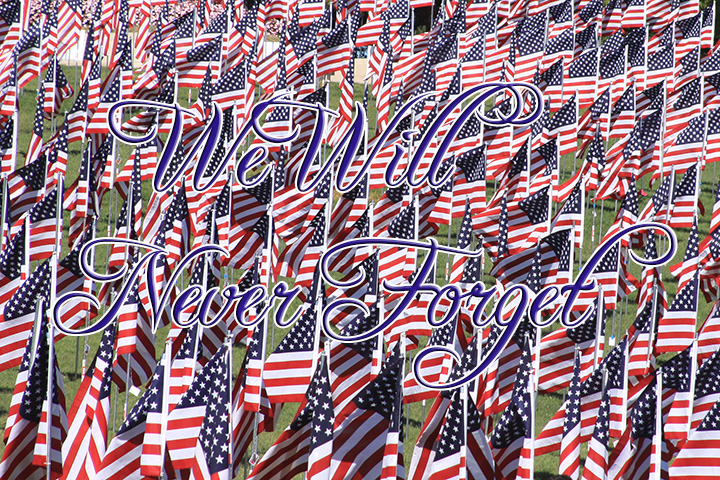 Flags of Valor–We Will Never Forget