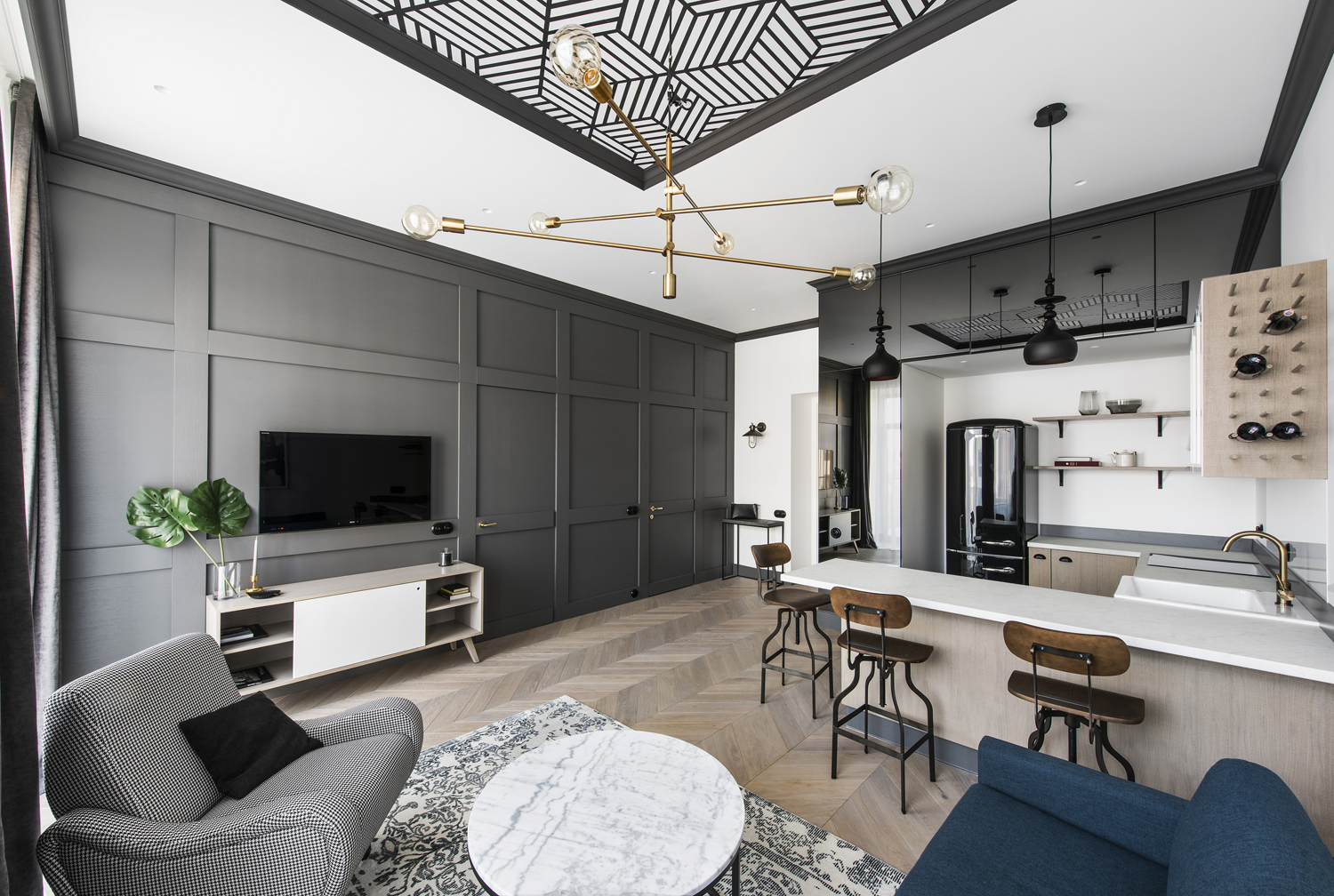 Das Beste Renovated Apartment In Lithuania With Modern Eclectic In Diesem Monat