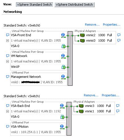 VSA Network Configuration