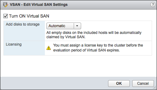 Edit VSAN Settings