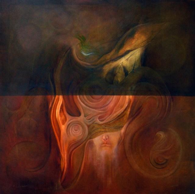 Balogh Ádám: Láss! /80x80 cm, olaj, vászon, 2004/