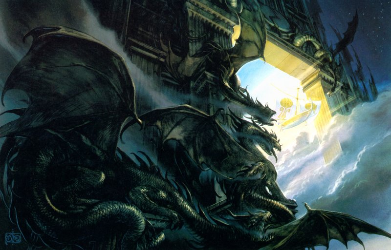 Az Éjszaka Kapuja. John Howe illusztrációja.