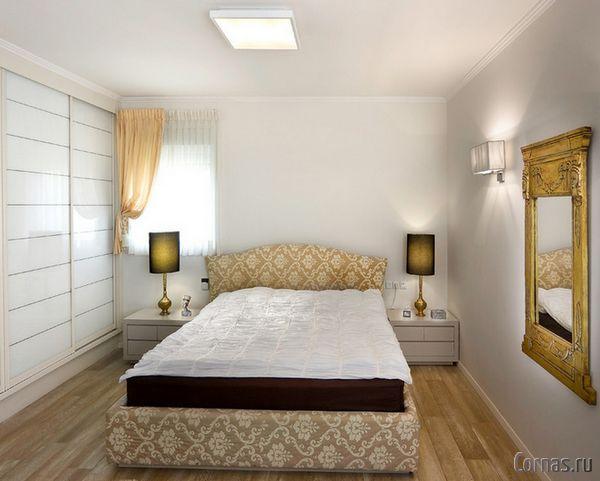 спальня 9 кв м дизайн фото с двуспальной кроватью 5