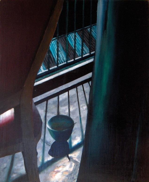 Impressionistic interior oil painting