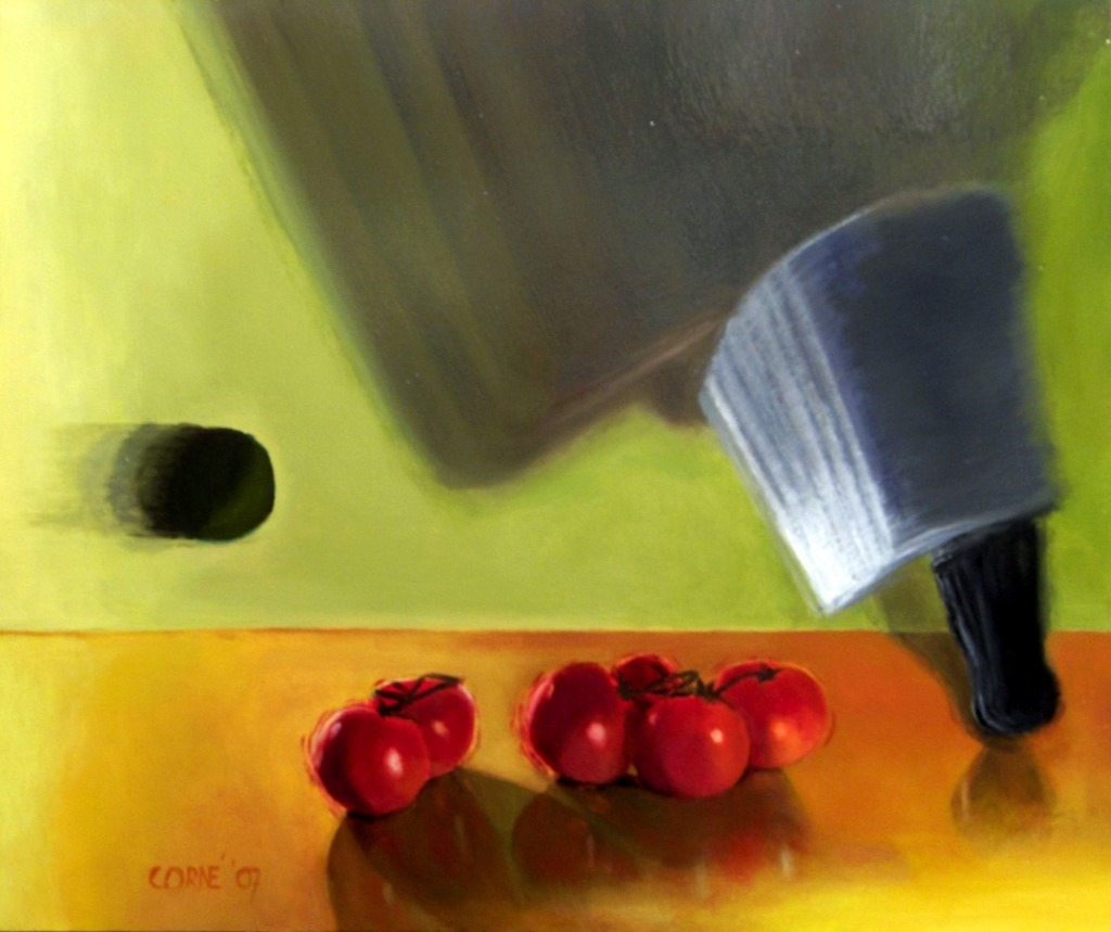 Surrealistic still life oil painting