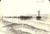 impressionistic seascape graphite pencil sketch thumbnail
