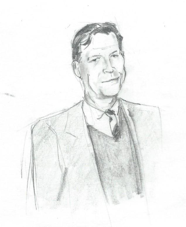 Caricature portrait graphite pencil drawing