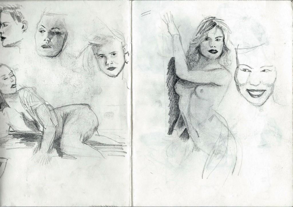 Sketchbook nudes and portraits of Corne Akkers