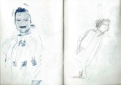 Realistic graphite pencil and pen sketches thumbnail