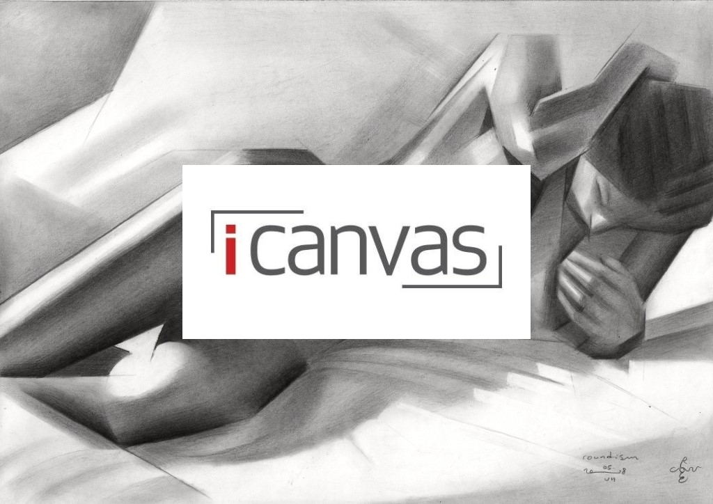 cubisitc nude graphite pencil drawing advertisement
