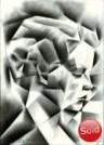 Cubistic portrait graphite pencil drawing thumbnail of Sari Maritza