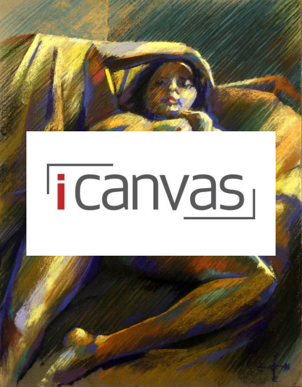 expressionist nude pastel drawing advertisement