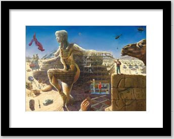 surrealistic nude oil painting framing example