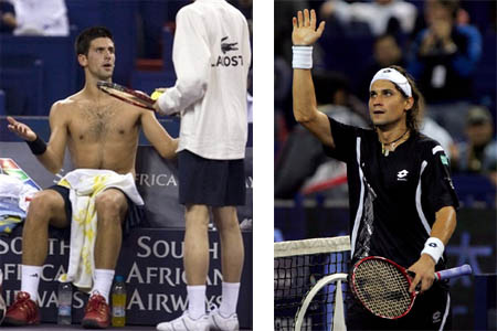 nole djokovic - david ferrer