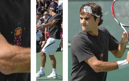 Roger Federer - practice - Indian Wells 2008