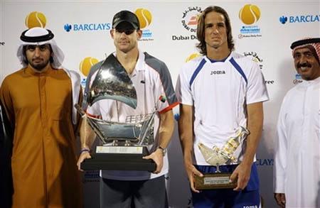 Andy Roddick, Feliciano Lopez, Dubai 2008