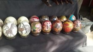 African Art Example: Ostrich eggs